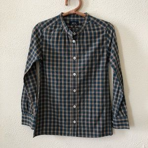 A.P.C. Plaid Buttondown Shirt XS
